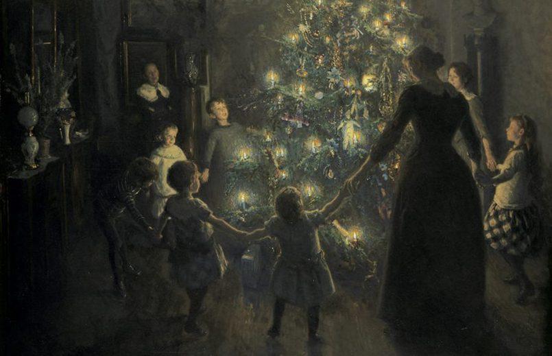 Вигго Юхансен «Светлое Рождество», 1891 г. / Фото: wikimedia.org