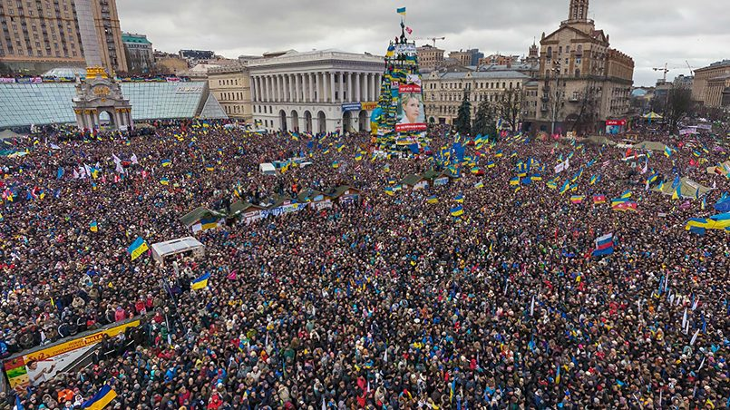 Майдан 2014 года на Украине / Фото: AirPano.ru