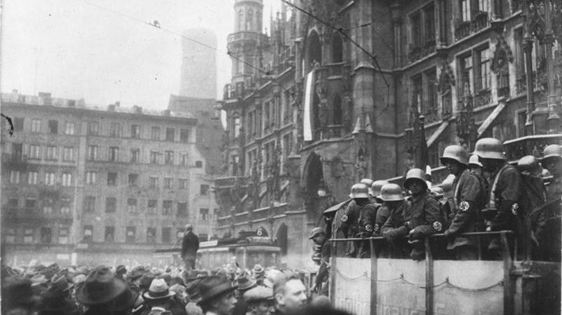 Площадь Мариенплац в Мюнхене во время «пивного путча» / Фото: wikimedia.org