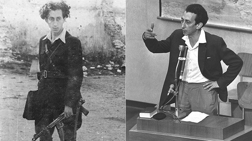 Абба Ковнер в 1943 году и на процессе Эйхмана в 1961 / Фото: hadashot