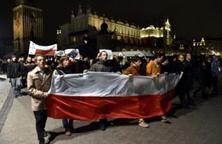 Источник: Аналитический портал RuBaltic.Ru https://www.rubaltic.ru/gallery/149/#t20c Акция протеста под лозунгом «Это не Речь Посполитая – это Советская Республика Польша» в Кракове