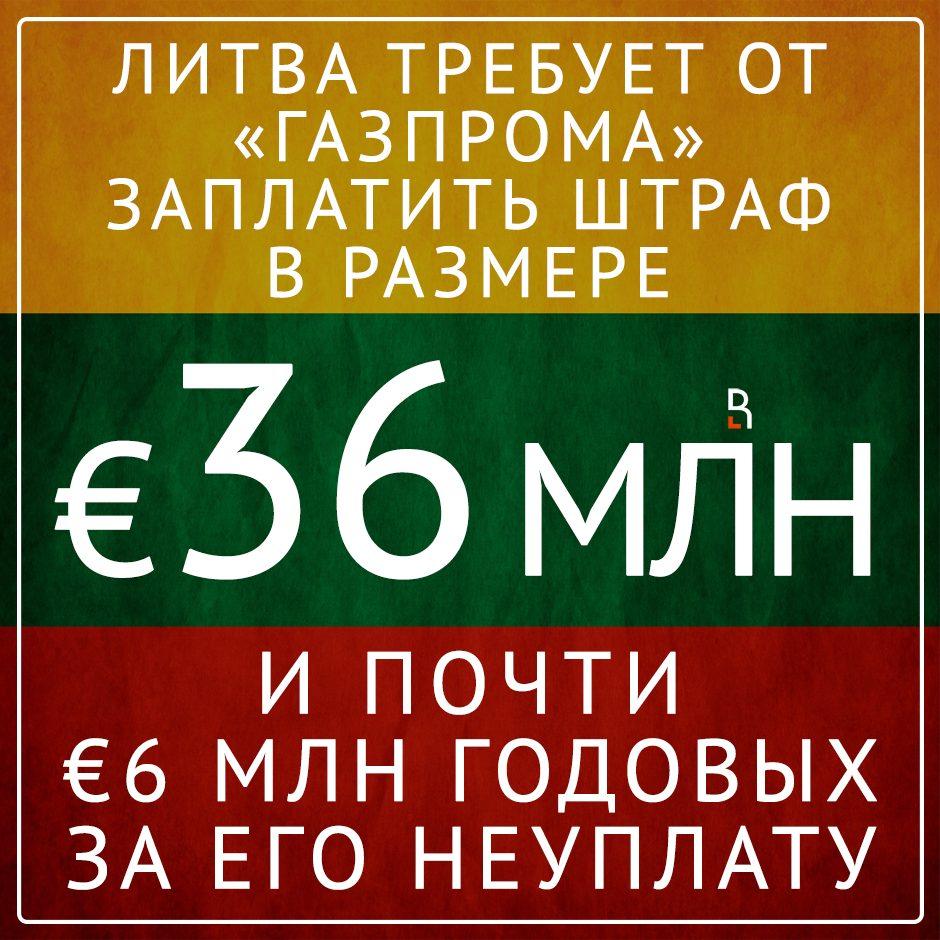 Шантаж по-литовски!