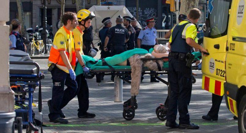 Жертвами теракта вБарселоне стали 13 человек, количество пострадавших превосходит 100 человек