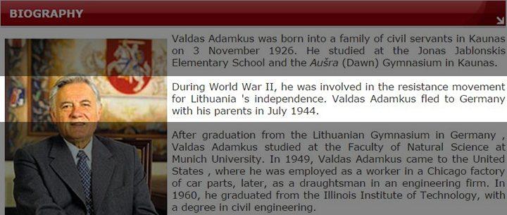 Tarpai ir baltos dėmės Adamkaus biografijoje