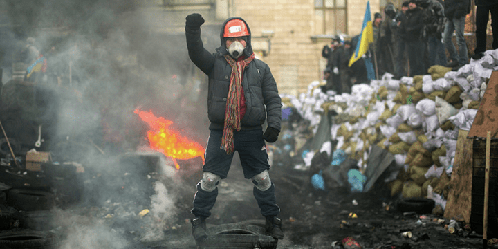 Радикальная группировка на Майдане