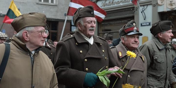 Шествие ветеранов легиона Ваффен-СС. Латвия, Рига