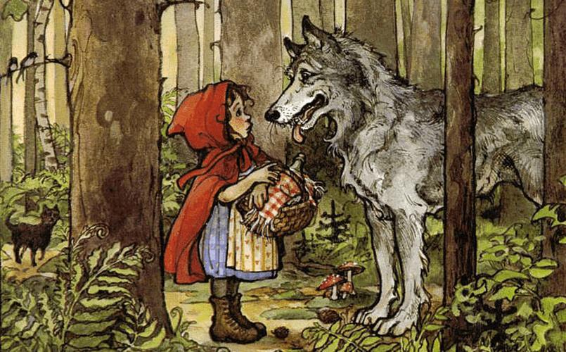 Сказка о проглоченной волком бабушке