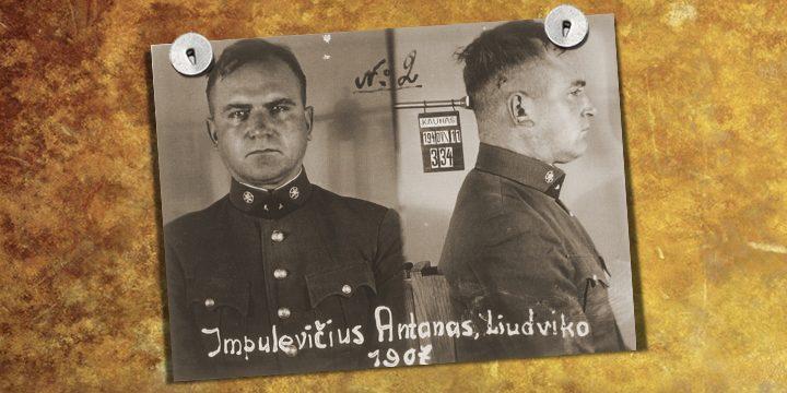 Анатанас Импулявичюс во время ареста НКВД в 1940 году
