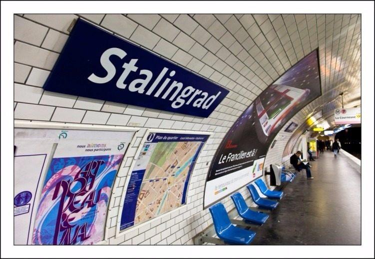 """Станция метро """"Stalingrad"""", Париж"""
