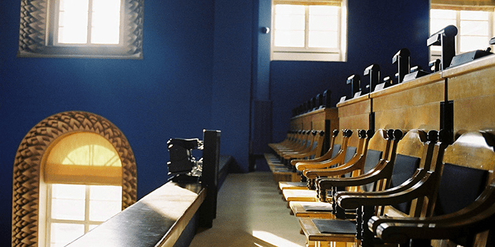 Зал заседаний эстонского парламента