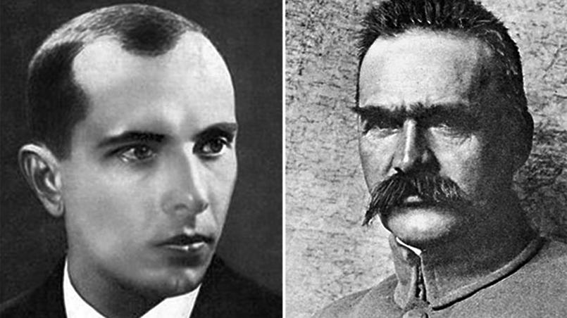 Степан Бандера и Юзеф Пилсудский