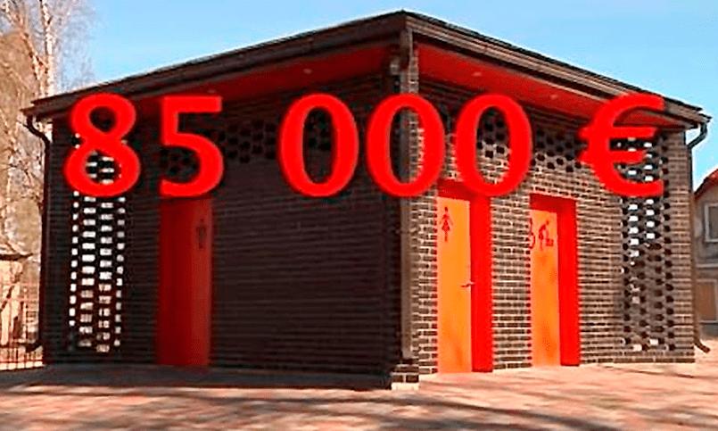Общественный туалет в латвийском городе Екабпилс за 85 тысяч евро