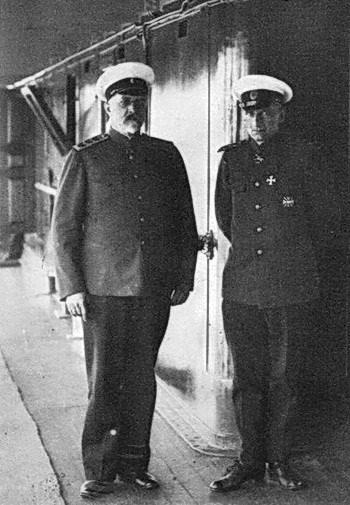 Командующий Вооружёнными силами Юга России генерал А. Деникин и Великий правитель России адмирал А. Колчак