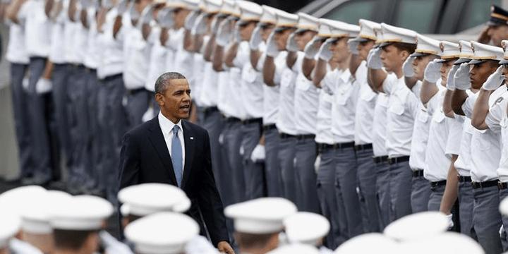 Барак Обама в военной академии Вест-Пойнт