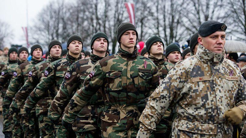Военное ополчение «Яунсардзе» / Фото: melkon.lv