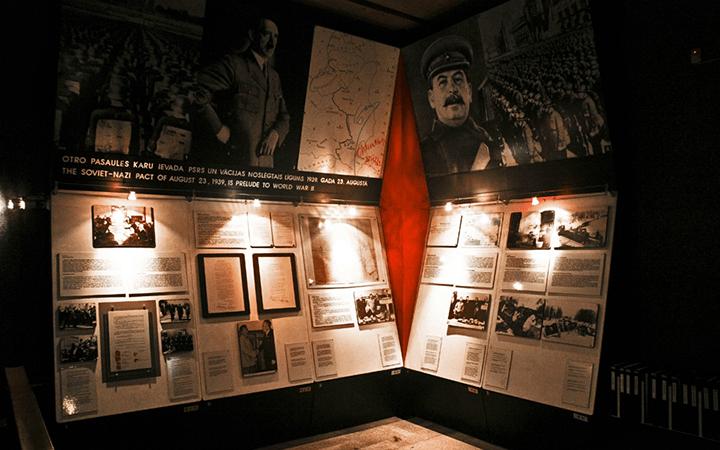 Стенд в музее оккупации Латвии