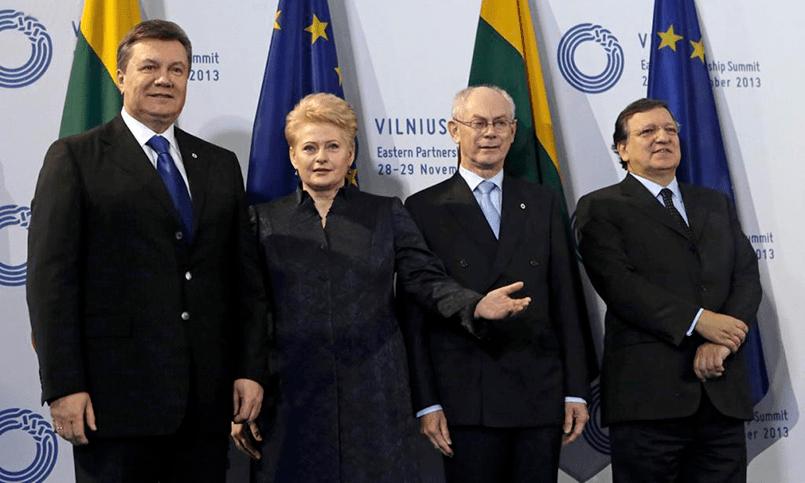 Виктор Янукович и Даля Грибаускайте на Вильнюсском саммите «Восточного партнерства»