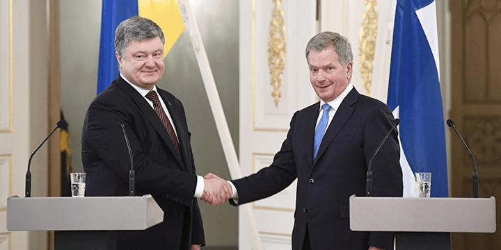 Пётр Порошенко и Саули Нийнистё