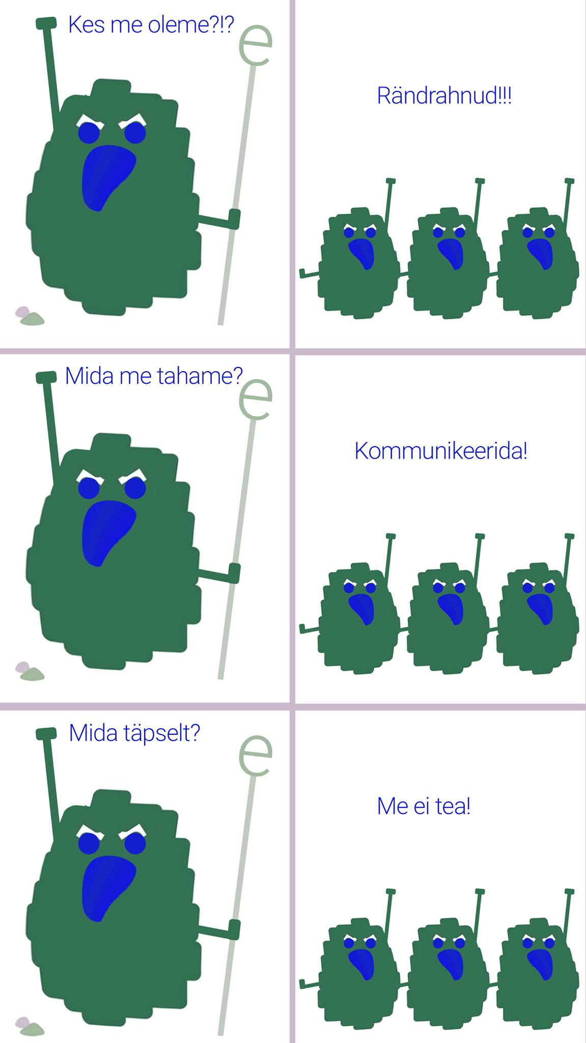 Комикс Карла-Кристиана Фрея про эстонский валун