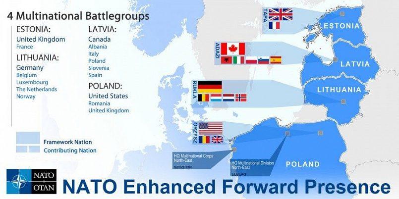 Батальон НАТО в Прибалтике и Польше / Фото: livejournal.com/centercigr