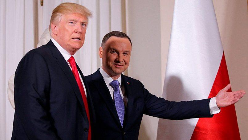 Президент США Дональд Трамп и президент Польши Анджей Дуда / Фото: REUTERS / Carlos Barria