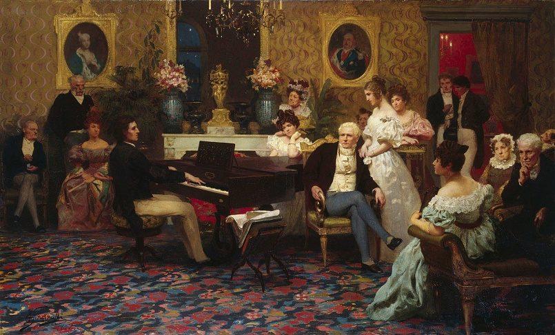 Генрих Семирадский. Шопен, играющий на фортепиано в салоне князя Радзивилла. 1887 год / Фото: Wikimedia Commons