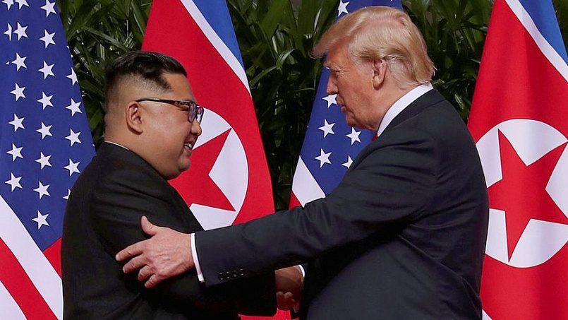 Лидер КНДР Ким Чен Ын и президент США Дональд Трамп / Фото: Газета.ру