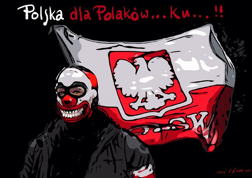 Надпись: «Польша для поляков» / Фото: WP Opinie — Wirtualna Polska