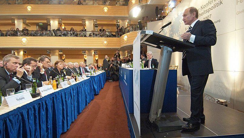 Владимир Путин на Мюнхенской конференции, 10 февраля 2007 г. / Фото: news2world.net