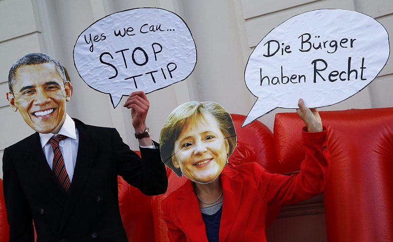 Протесты против TTIP в Ганновере, совпавшие с визитом Обамы, 2016 год /Фото: PolitRussia.com