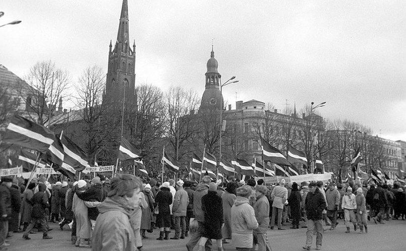 Демонстрация в Риге, 1990 го / Фото: tilzit.info
