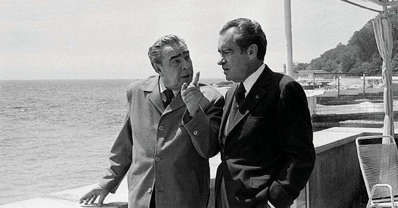 Леонид Брежнев и Ричард Никсон / Фото: pbs.twimg.com