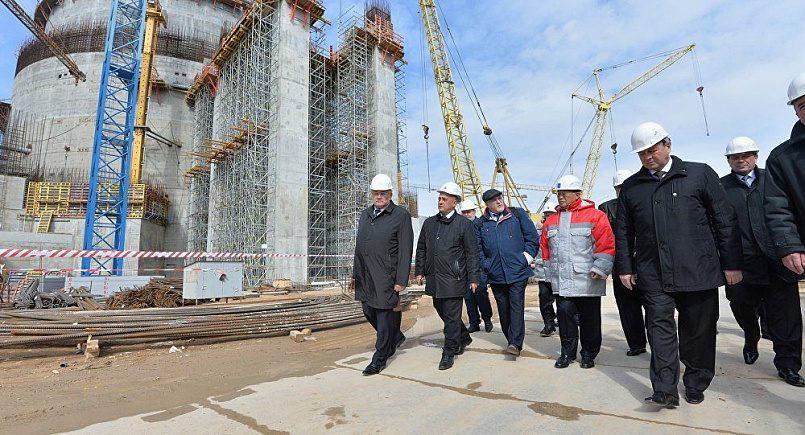 Делегация МАГАТЭ на стройплощадке БелАЭС. Фото: sputnik.by