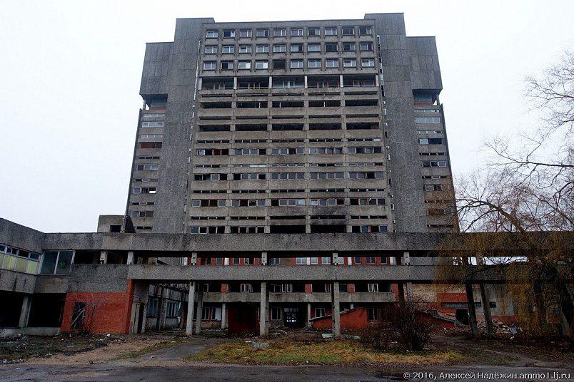 Руины бывшего завода «Радиотехника» в Риге. Ныне снесены окончательно