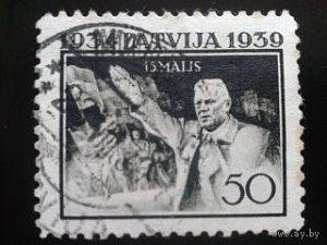 Почтовая марка, Латвия, 1939 г.