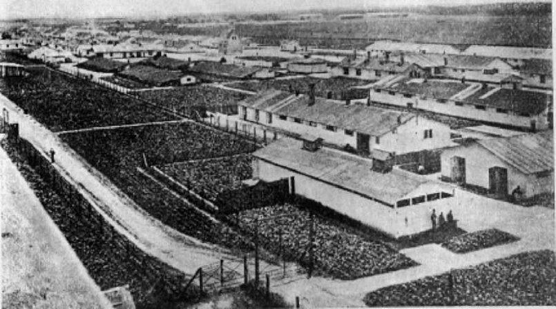 Вид на лагерь Терезин, 1917 год