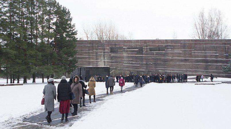 Открытие новой экспозиции Саласпилсского мемориала / Фото: baltnews.lv