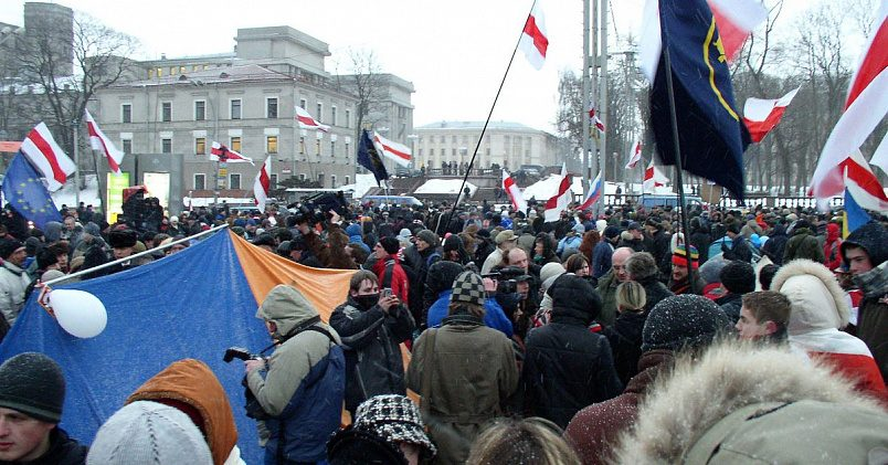 Митинг сторонников оппозиции в Минске на Октябрьской площади, 21 марта 2006 года / Фото: wikimedia.org