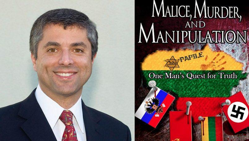 Грант Гочин и его книга «Злоба, убийство и манипуляция» / Фото: jewishnews.net