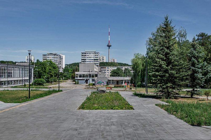 Аллея, ведущая к центральной площади. Фото: Leonas Garbačauskas