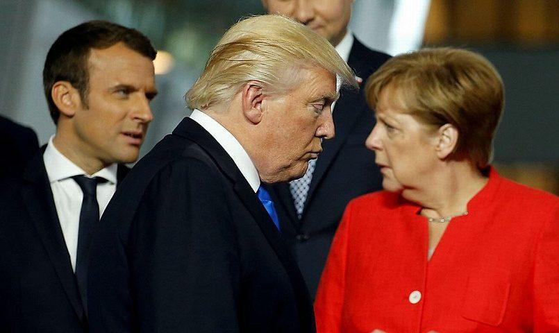Э. Макрон, Д. Трамп, А. Меркель / Фото: fondsk.ru
