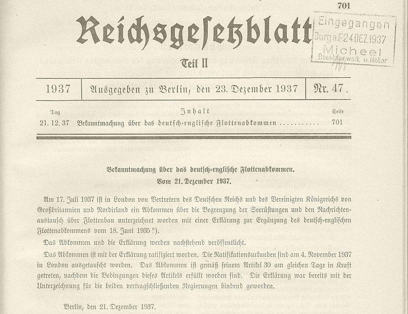 Объявление о немецко-английском соглашении от 21 декабря 1937 года / Фото: wikipedia
